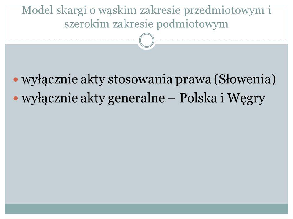 wyłącznie akty stosowania prawa (Słowenia)