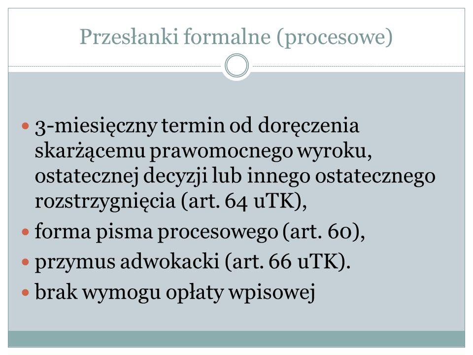 Przesłanki formalne (procesowe)
