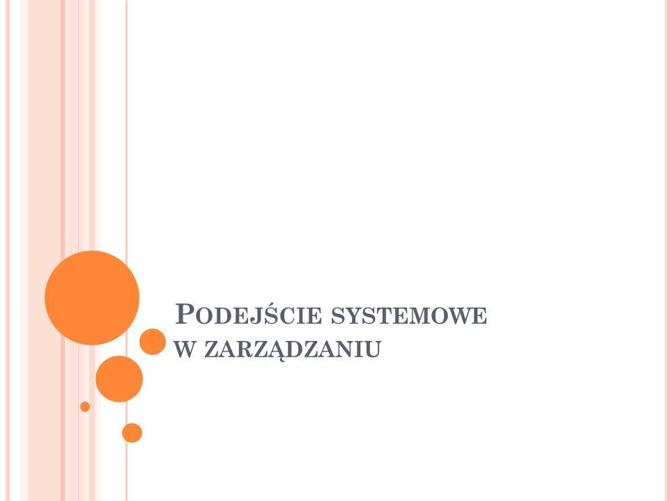 Podejście systemowe w zarządzaniu