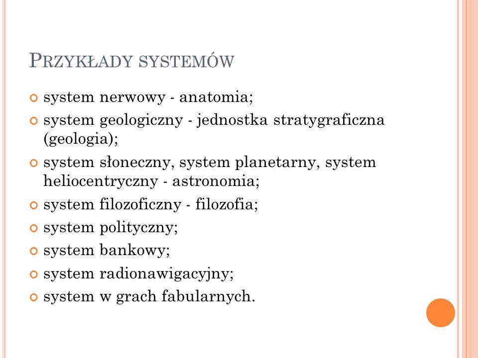 Przykłady systemów system nerwowy - anatomia;