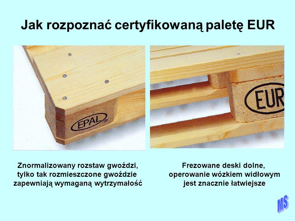 Jak rozpoznać certyfikowaną paletę EUR