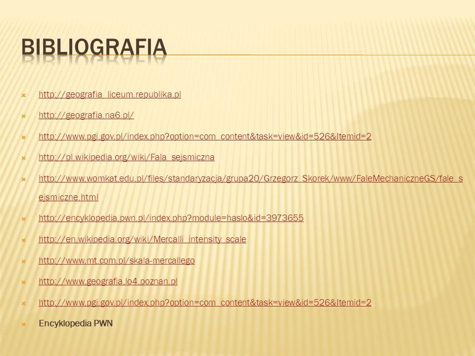 Bibliografia http://geografia_liceum.republika.pl