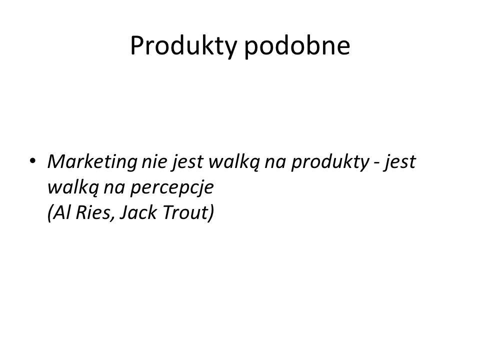 Produkty podobne Marketing nie jest walką na produkty - jest walką na percepcje (Al Ries, Jack Trout)