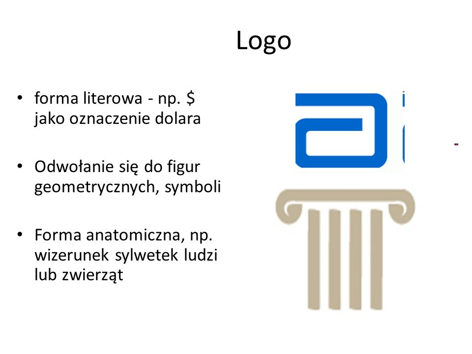 Logo forma literowa - np. $ jako oznaczenie dolara