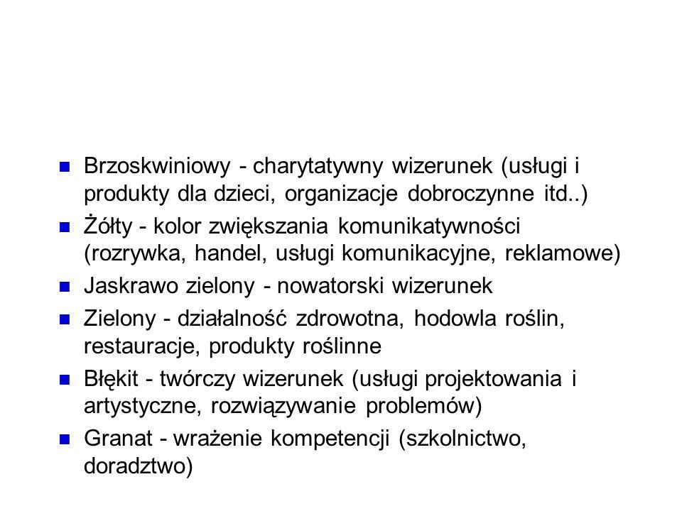 Kolory Brzoskwiniowy - charytatywny wizerunek (usługi i produkty dla dzieci, organizacje dobroczynne itd..)