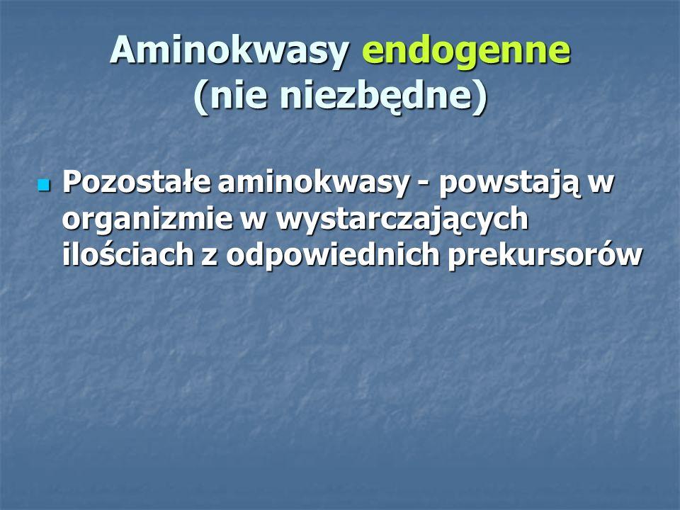 Aminokwasy endogenne (nie niezbędne)