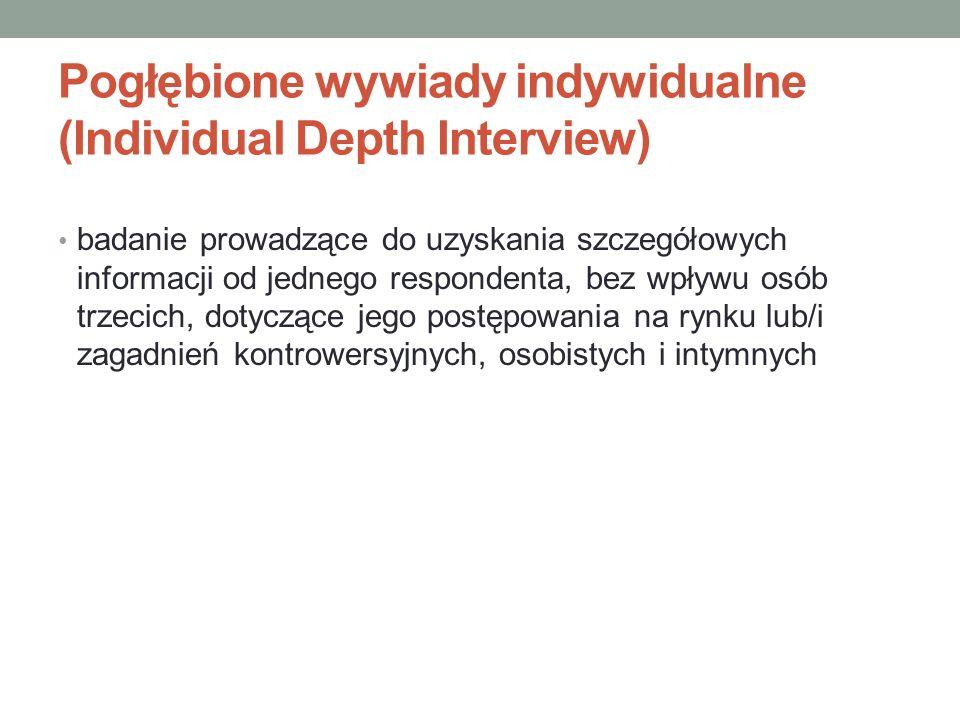 Pogłębione wywiady indywidualne (Individual Depth Interview)