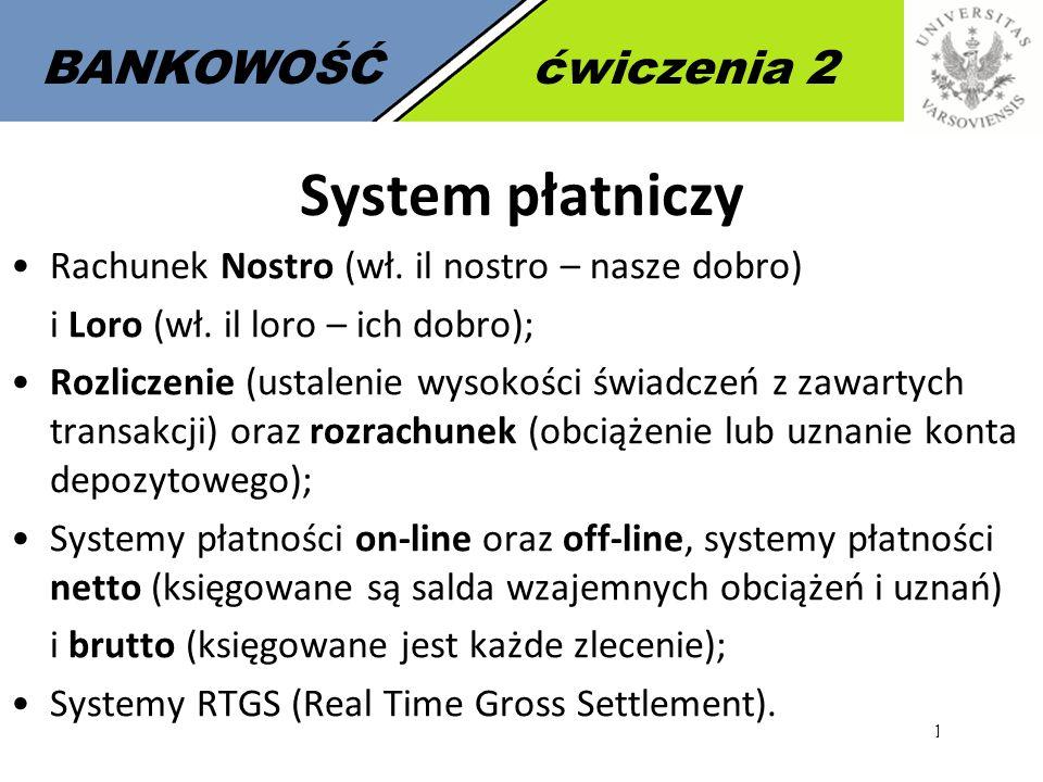 System płatniczy BANKOWOŚĆ ćwiczenia 2