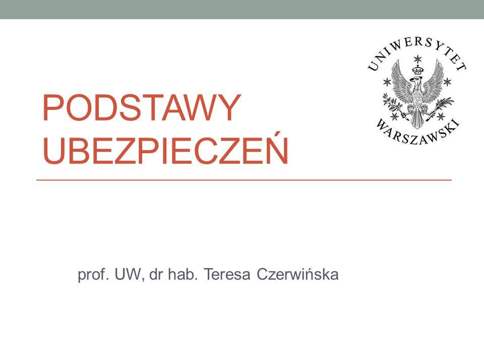 prof. UW, dr hab. Teresa Czerwińska