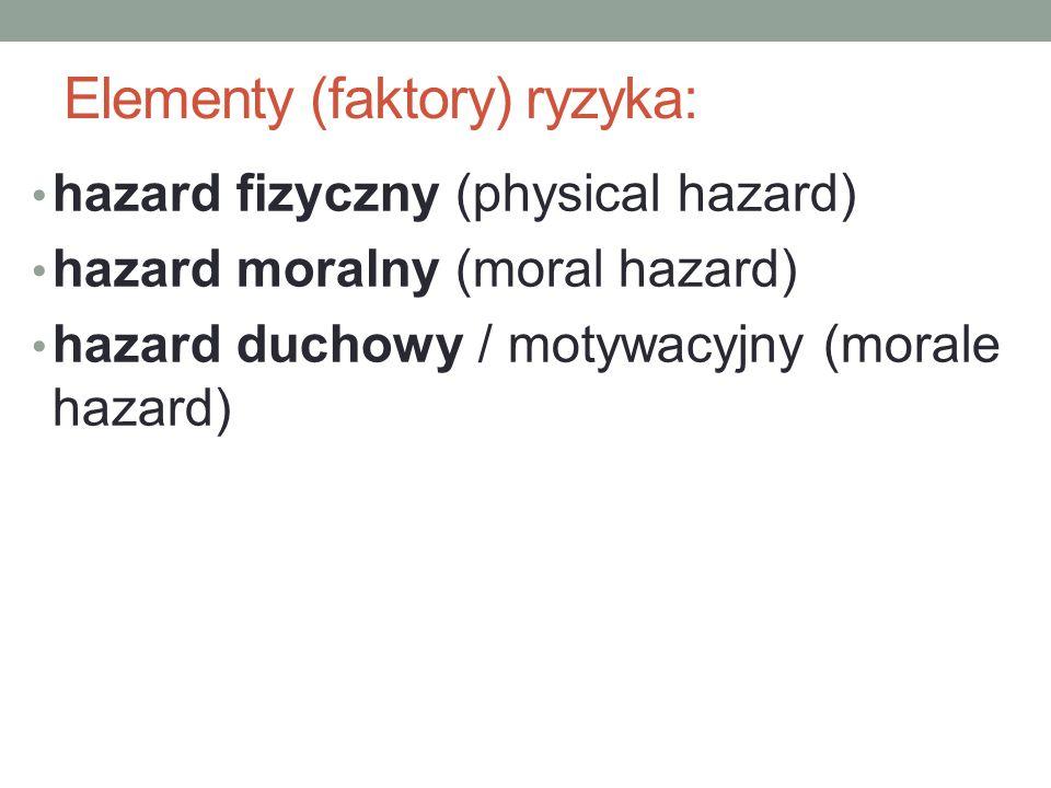Elementy (faktory) ryzyka: