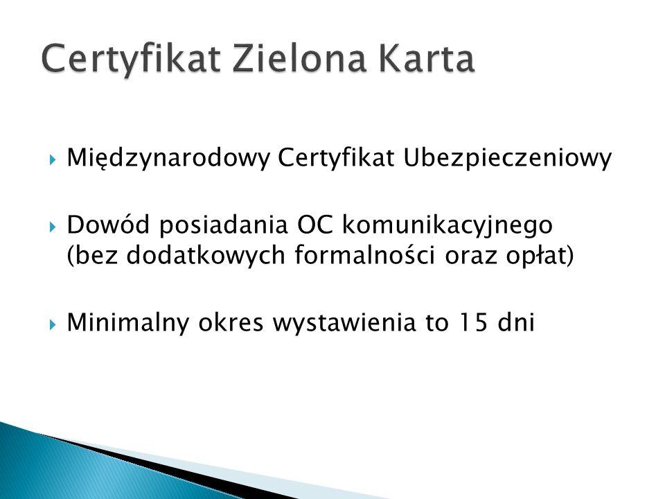 Certyfikat Zielona Karta