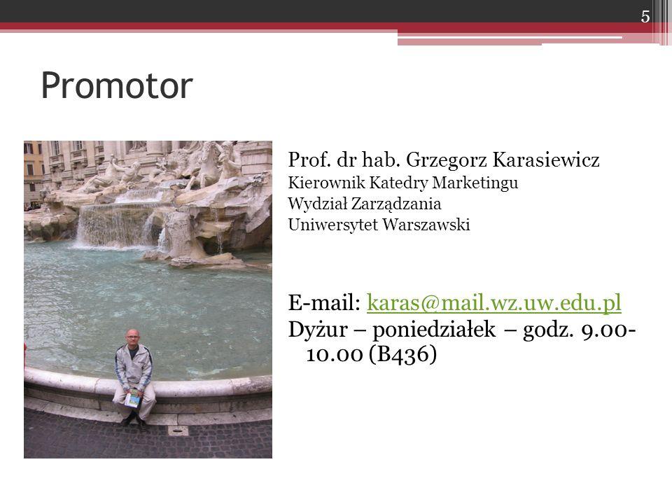 Promotor E-mail: karas@mail.wz.uw.edu.pl