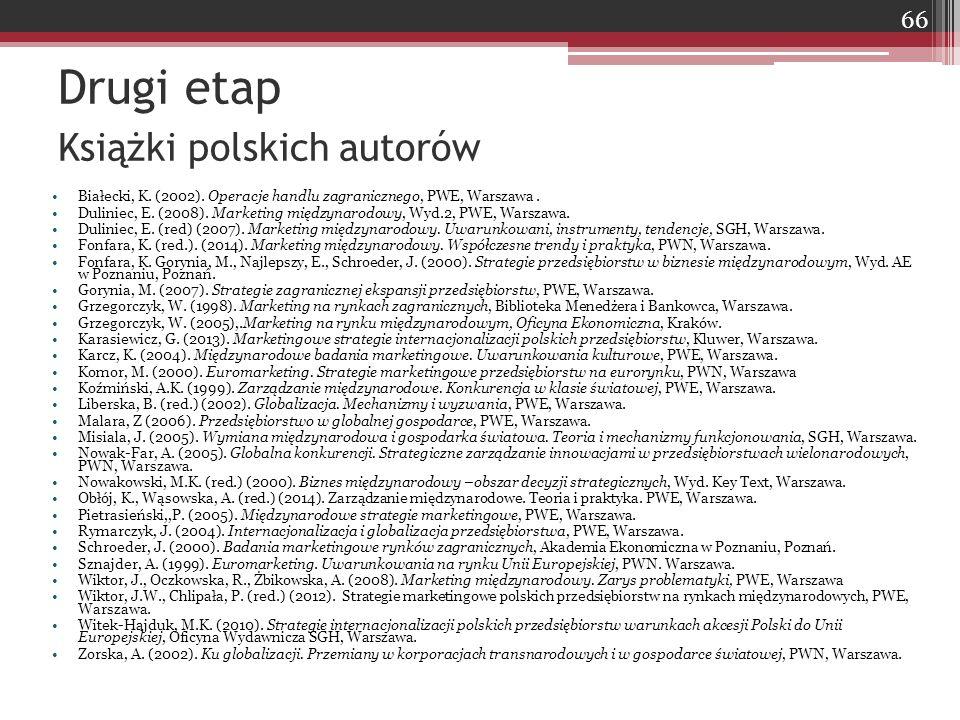Drugi etap Książki polskich autorów