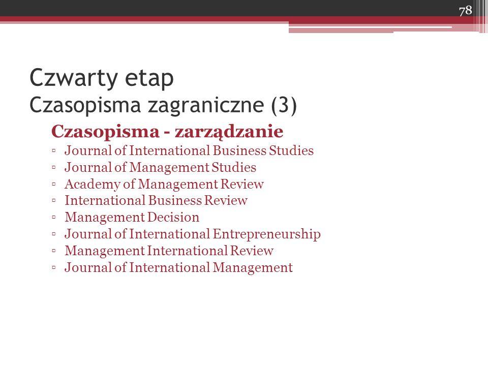 Czwarty etap Czasopisma zagraniczne (3)