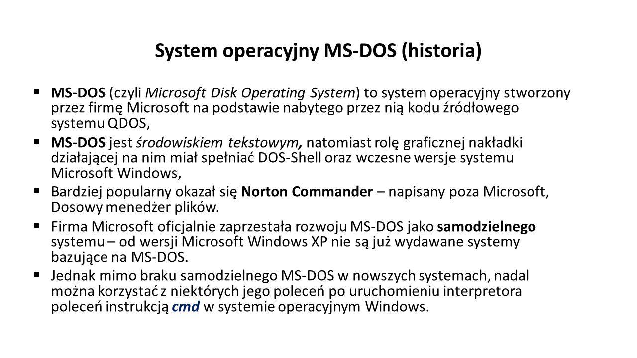 System operacyjny MS-DOS (historia)