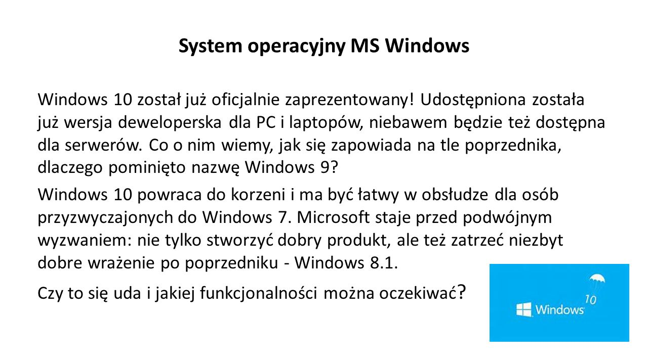 System operacyjny MS Windows