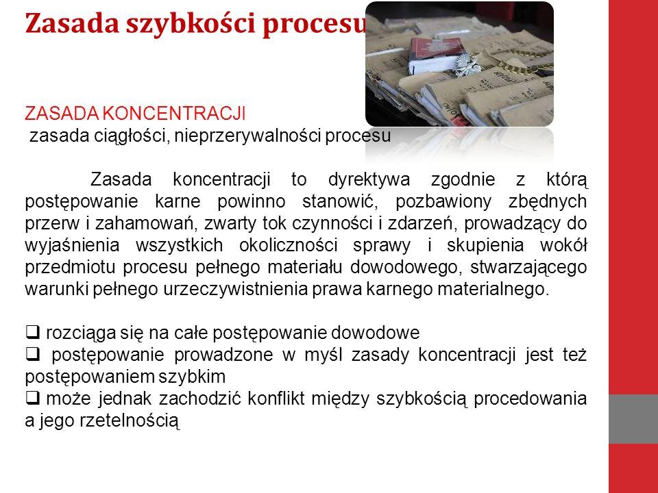Zasada szybkości procesu