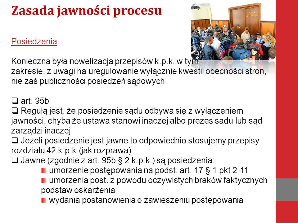 Zasada jawności procesu