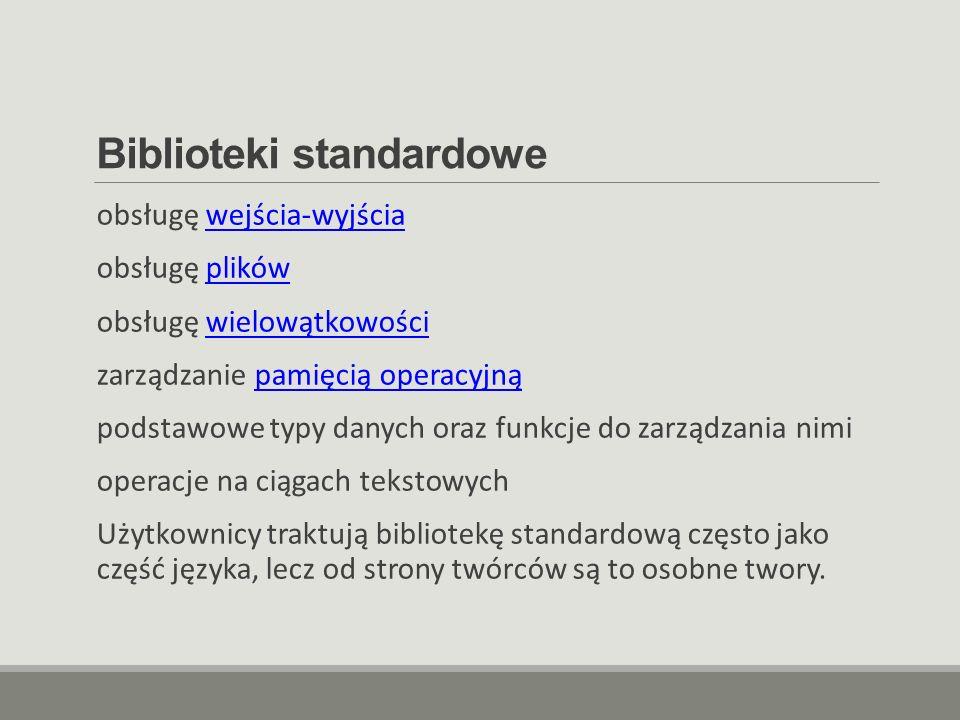 Biblioteki standardowe