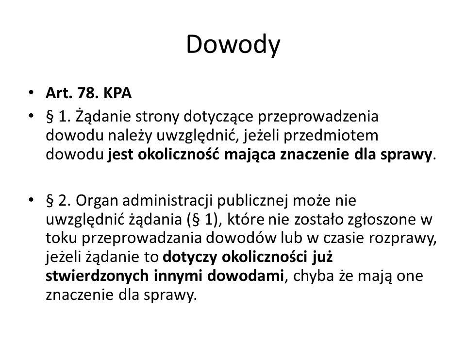 Dowody Art. 78. KPA.