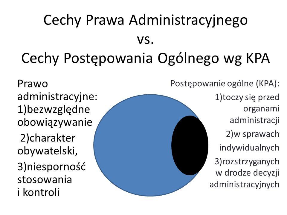 Cechy Prawa Administracyjnego vs. Cechy Postępowania Ogólnego wg KPA