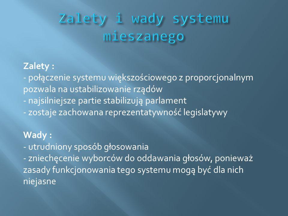 Zalety i wady systemu mieszanego