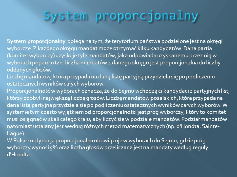 System proporcjonalny