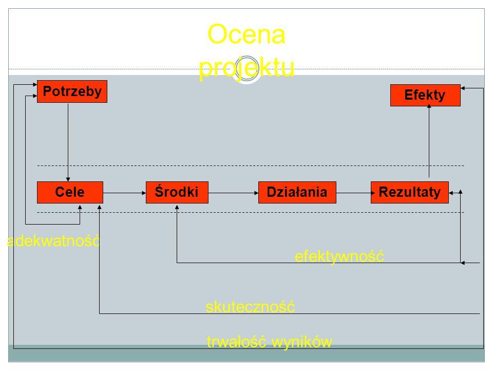 Ocena projektu adekwatność efektywność skuteczność trwałość wyników