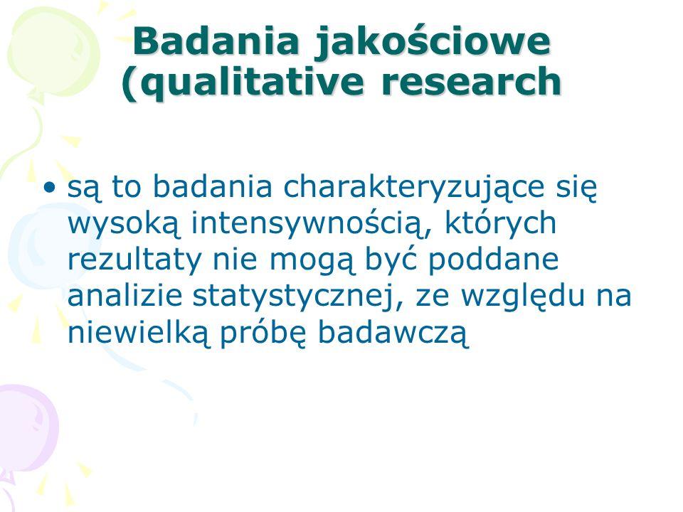 Badania jakościowe (qualitative research