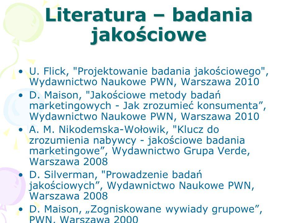 Literatura – badania jakościowe