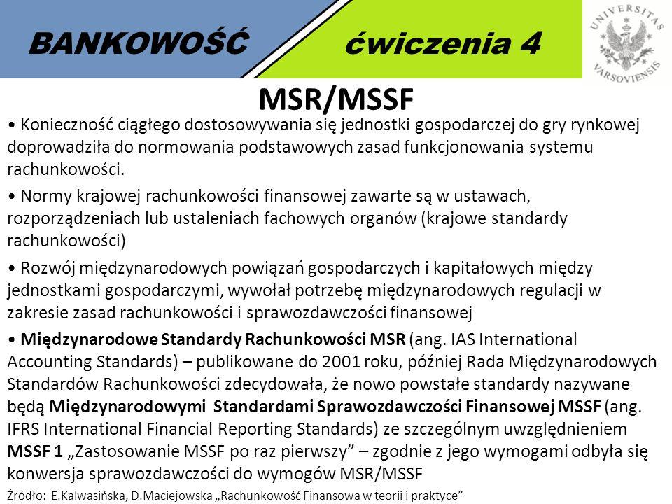 MSR/MSSF BANKOWOŚĆ ćwiczenia 4