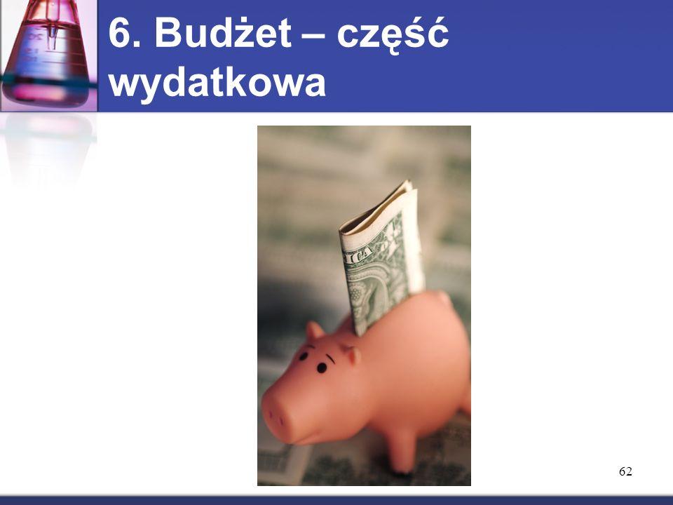 6. Budżet – część wydatkowa