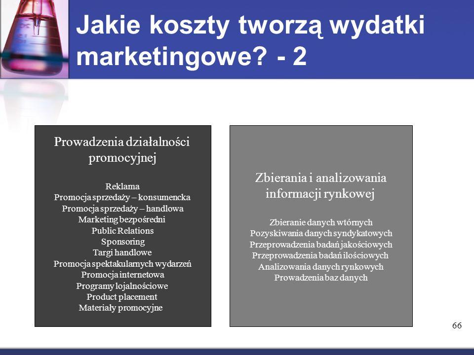 Jakie koszty tworzą wydatki marketingowe - 2