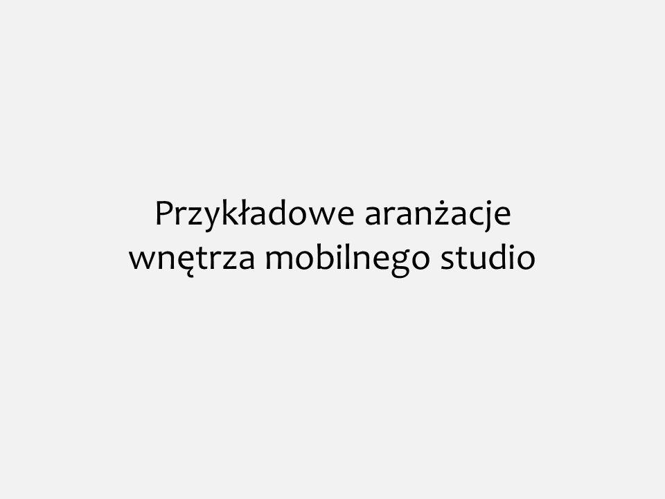 Przykładowe aranżacje wnętrza mobilnego studio