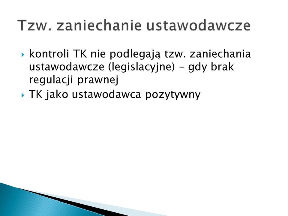 Tzw. zaniechanie ustawodawcze