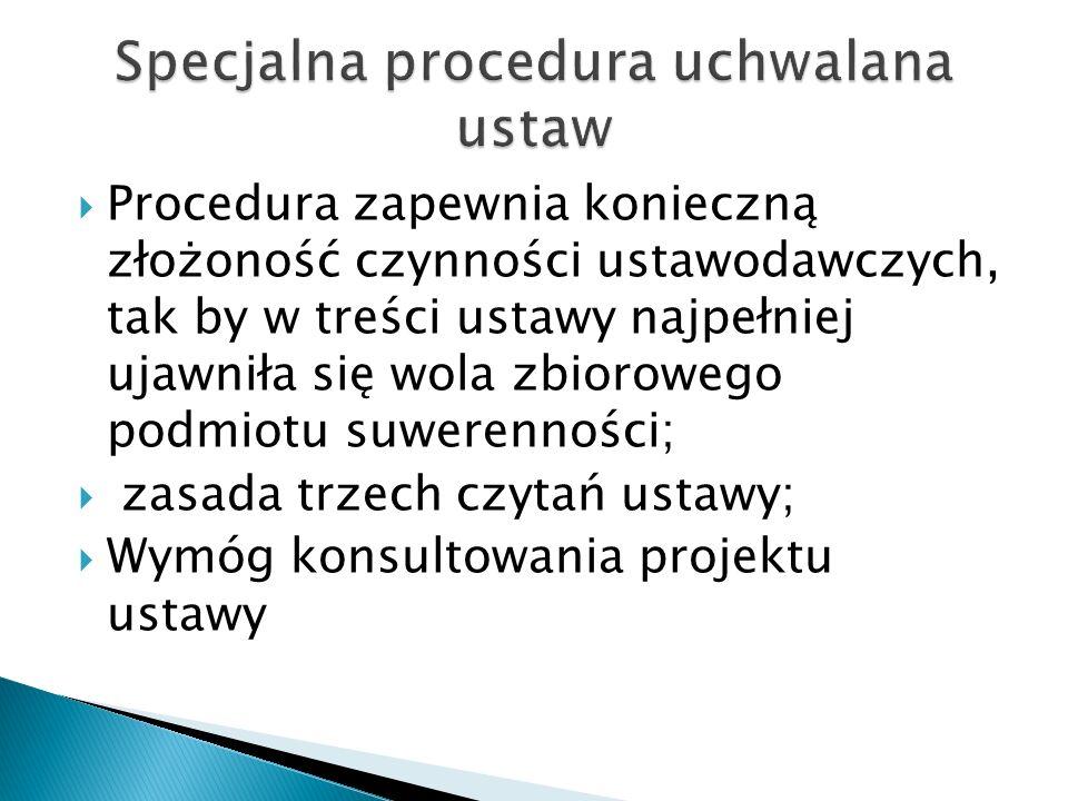 Specjalna procedura uchwalana ustaw