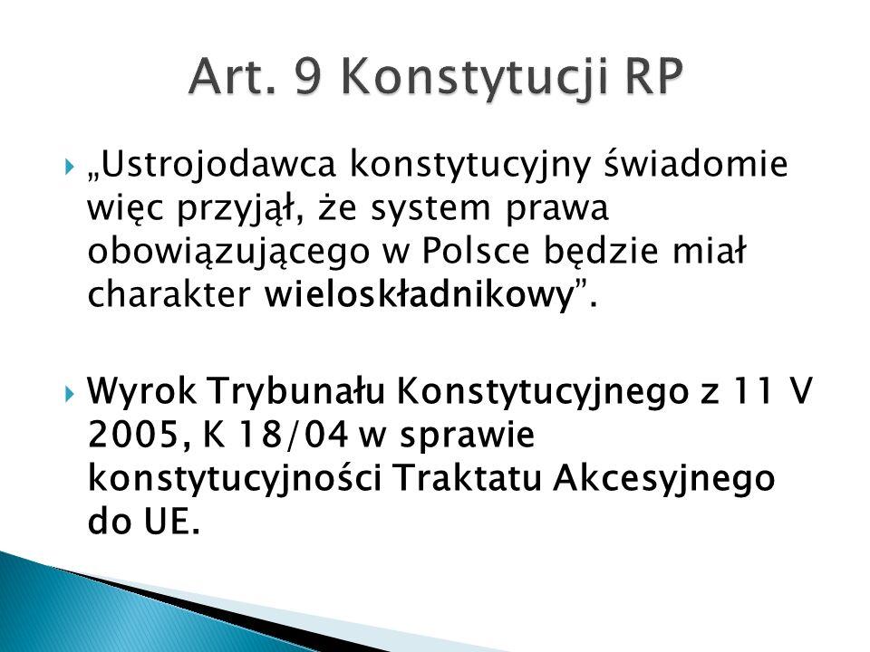 Art. 9 Konstytucji RP