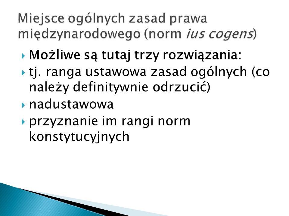 Miejsce ogólnych zasad prawa międzynarodowego (norm ius cogens)