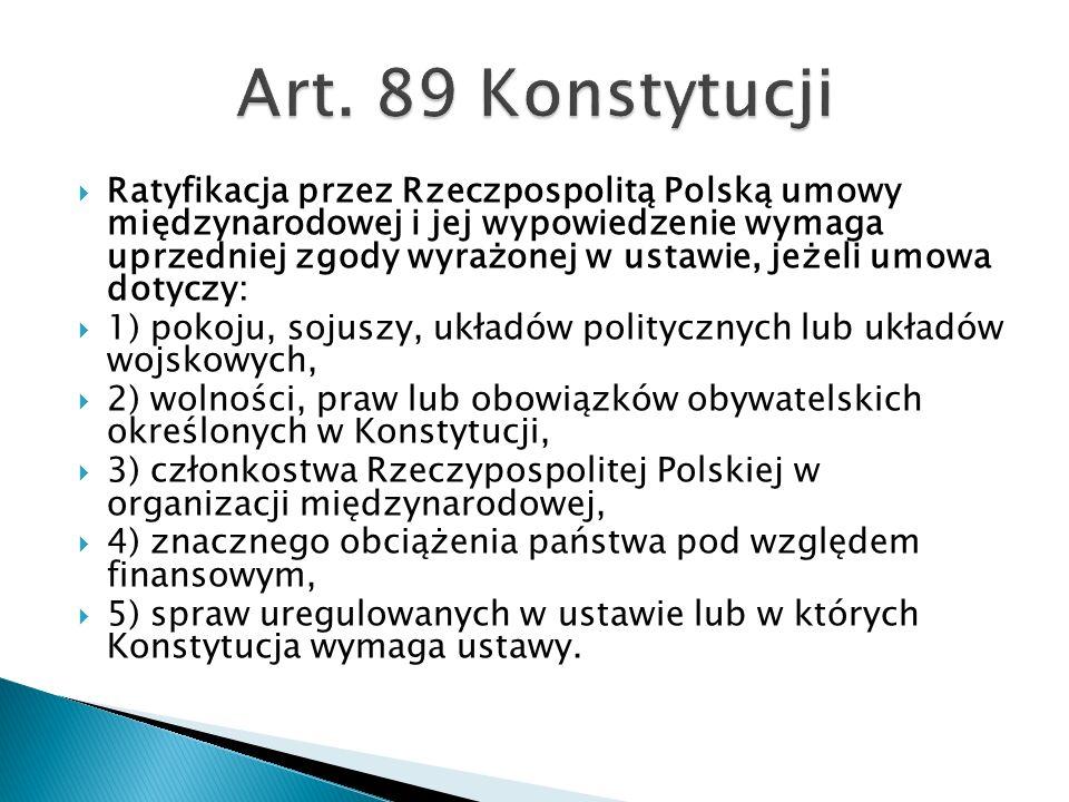 Art. 89 Konstytucji
