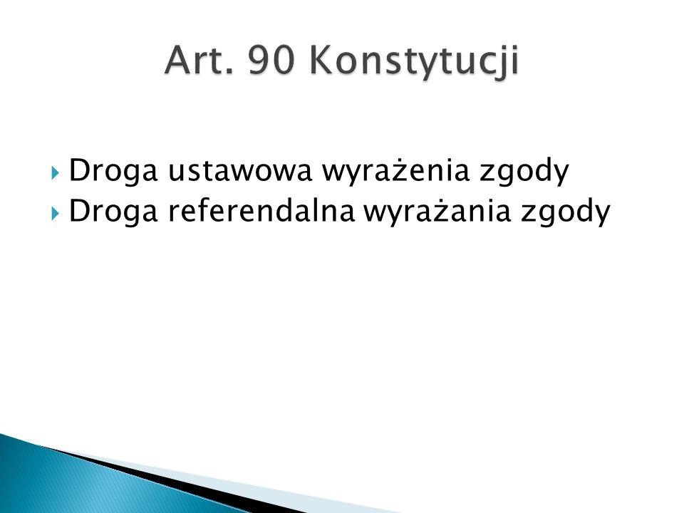 Art. 90 Konstytucji Droga ustawowa wyrażenia zgody