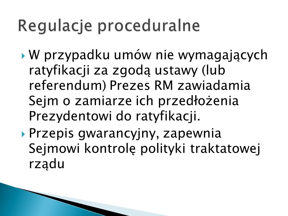 Regulacje proceduralne
