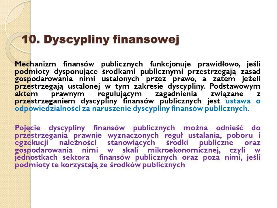 10. Dyscypliny finansowej