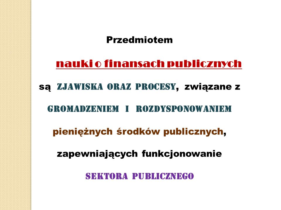 nauki o finansach publicznych