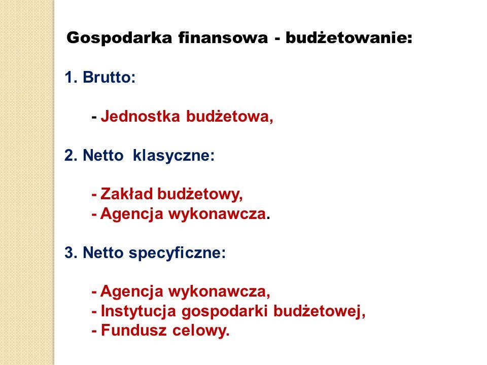 Gospodarka finansowa - budżetowanie: