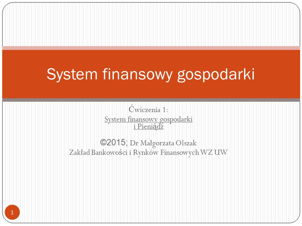 System finansowy gospodarki