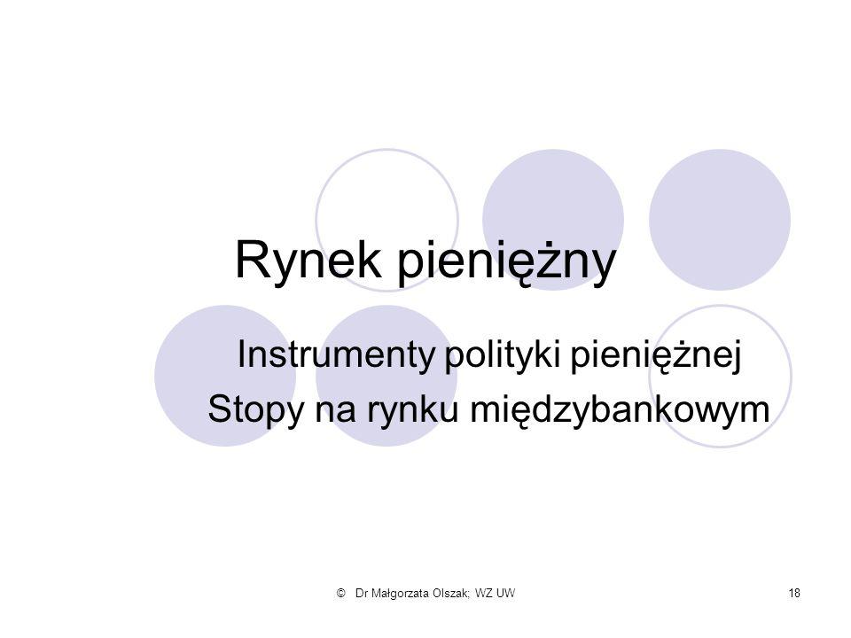 Instrumenty polityki pieniężnej Stopy na rynku międzybankowym