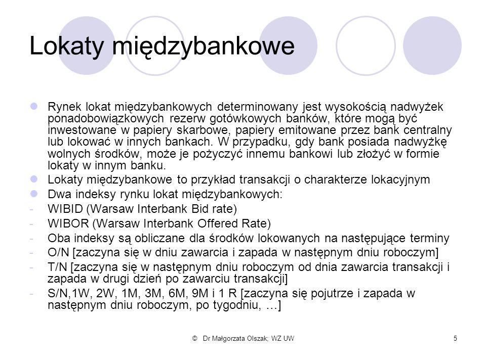 © Dr Małgorzata Olszak; WZ UW