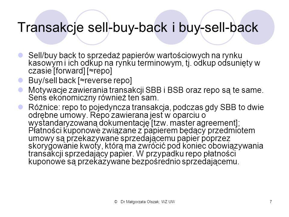 Transakcje sell-buy-back i buy-sell-back