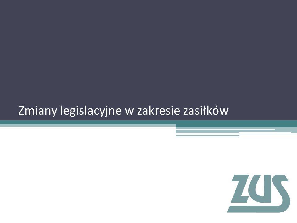 Zmiany legislacyjne w zakresie zasiłków