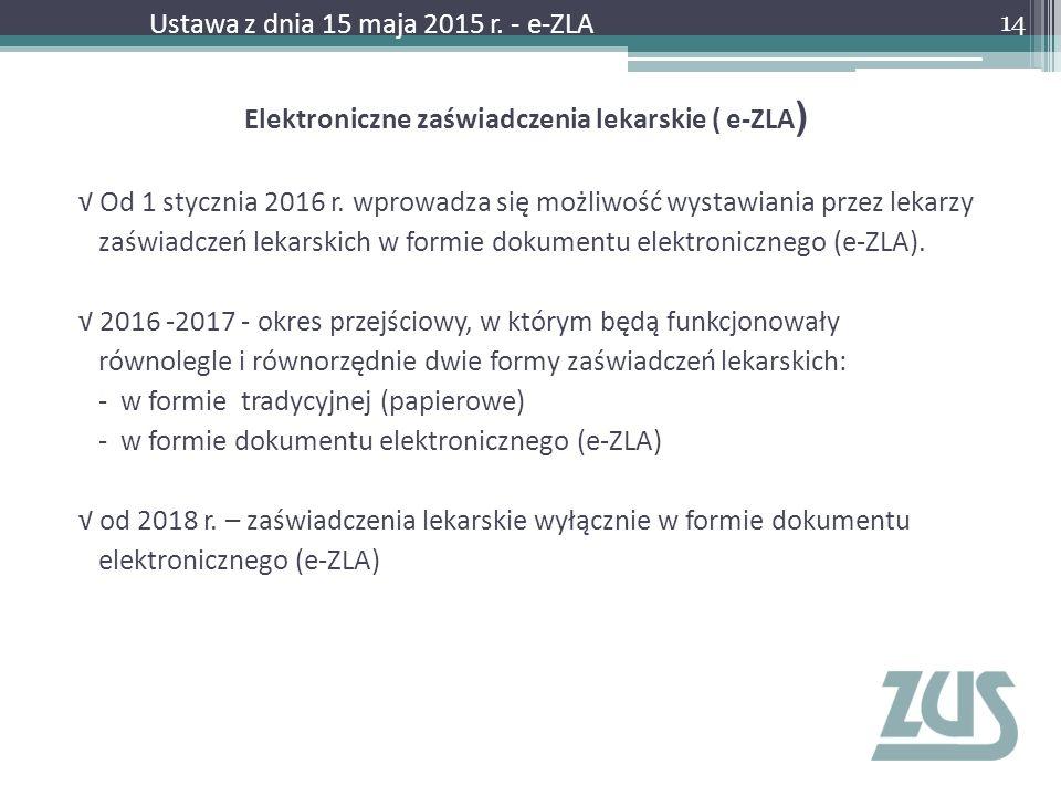 Elektroniczne zaświadczenia lekarskie ( e-ZLA)
